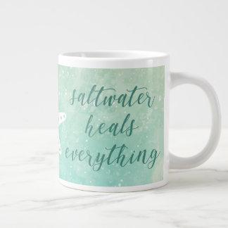 Saltwater Heals Everything Large Coffee Mug