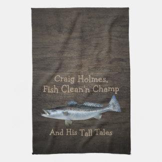 Saltwater Trout Fishing•Custom Kitchen Towel