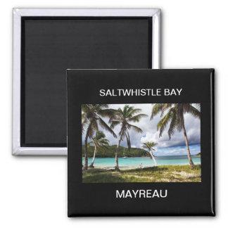 Saltwhistle Bay, Mayreau, Caribbean Island Square Magnet