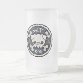 Salty Dog -bd Frosted Glass Beer Mug
