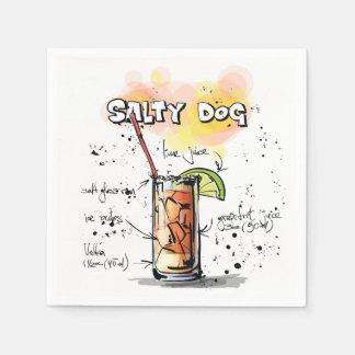 Salty Dog Drink Recipe Cocktail Napkin Disposable Napkins
