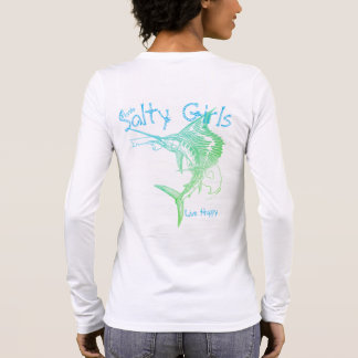 Salty Girls Live Happy Sailfish Long Sleeve T-Shirt