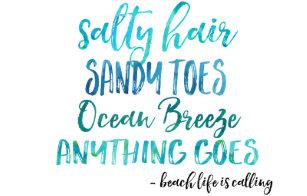 Beach Quotes Hats & Caps | Zazzle CA