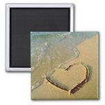 Salty Heart in Sand Magnet