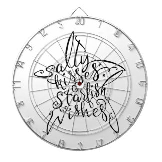 Salty Kisses and Starfish Wishes Hand Lettering Dartboard