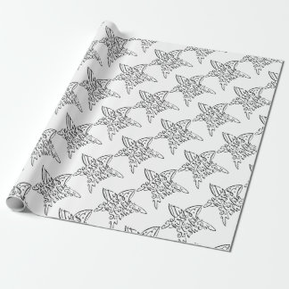 Salty Kisses and Starfish Wishes Hand Lettering Wrapping Paper