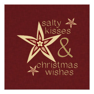 Salty Kisses Christmas Wishes Photo