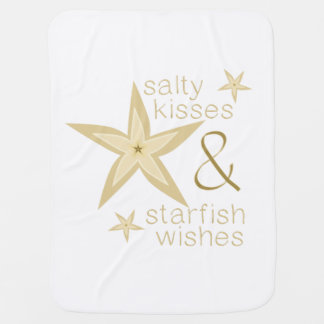 Salty Kisses Starfish Wishes Baby Blankets