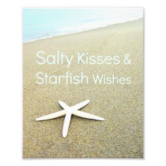 Salty Kisses & Starfish Wishes Photo Print