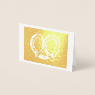 Salty NYC Soft Pretzel New York Junk Food Foodie Foil Card