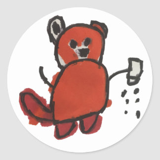 Salty Red Panda Sticker