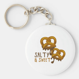 Salty & Sweet Basic Round Button Keychain