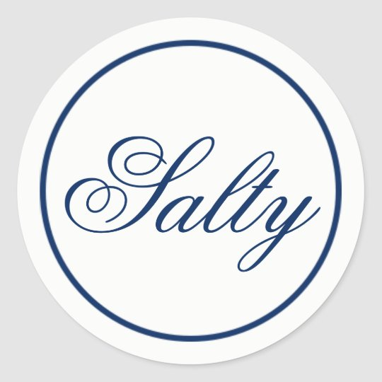 """Salty"" Wedding Favour & Welcome Bag Sticker -"