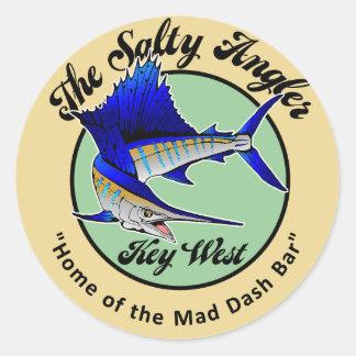 SaltyAngler Classic Round Sticker