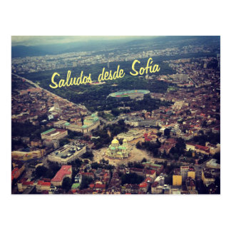 Saludos desde Sofía Postcard