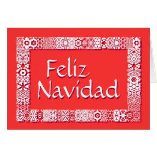 Saludos Feliz Tarjeta De Navidad. Saludo dentro Card