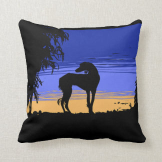 Saluki ate night throw pillow