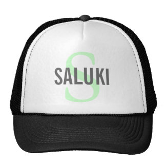 Saluki Breed Monogram Design Trucker Hat