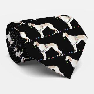 Saluki Christmas Design Tie