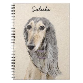 Saluki (Fawn) Painting - Cute Original Dog Art Notebook
