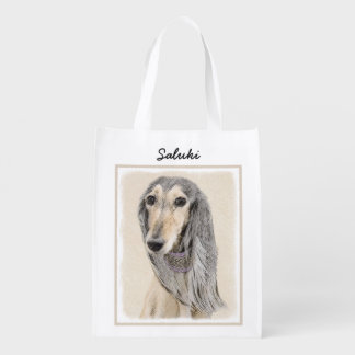 Saluki (Fawn) Reusable Grocery Bag