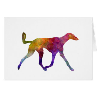 Saluki in watercolor card
