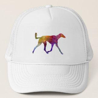 Saluki in watercolor trucker hat