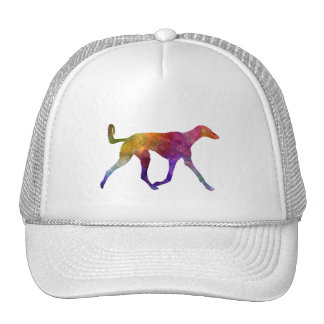 Saluki in watercolor trucker hat