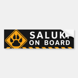 Saluki On Board Bumper Sticker