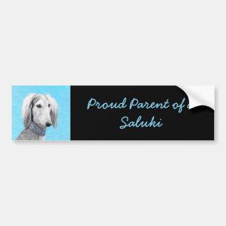 Saluki (Silver) Bumper Sticker