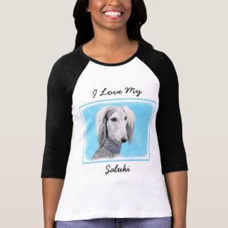 Saluki (Silver) Painting - Cute Original Dog Art T-Shirt