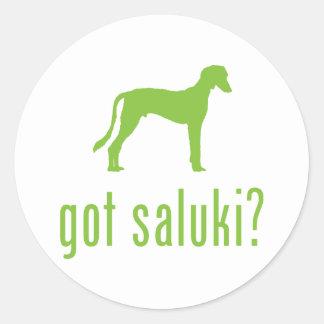 Saluki Round Stickers