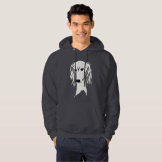 Saluki white hoodie