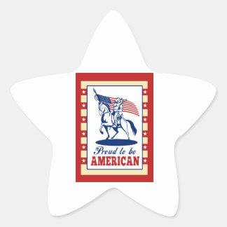 Salutation américaine d'affiche de Jour de la Décl Autocollants