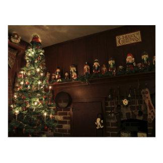 Salutation coloniale démodée de vacances de Noël Carte Postale