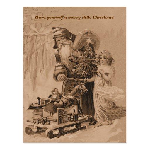 salutation de Noël de Vieux Monde Cartes Postales