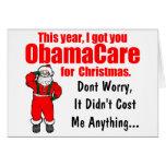 Salutation drôle de Noël d'ObamaCare Carte