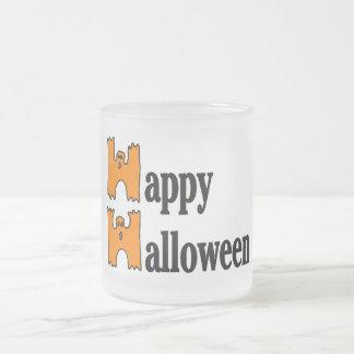 Salutation heureuse de Halloween Tasse À Café