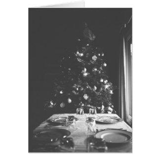 Salutation inspirée démodée de Noël Carte De Vœux