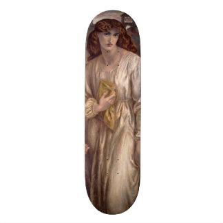 Salutation of Beatrice by Dante Gabriel Rossetti Skateboard Deck