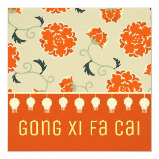 Salutations chinoises du gong XI fa Eao de Carton D'invitation 13,33 Cm