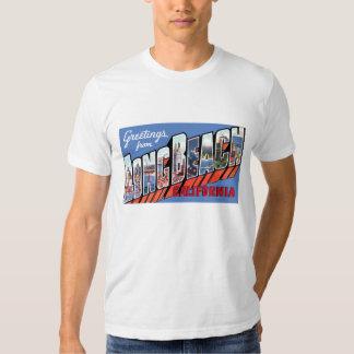 Salutations de chemise de Long Beach la Californie T Shirts