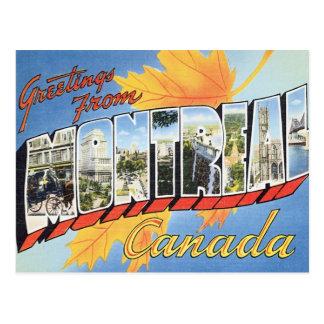 Salutations de Montréal Canada Carte Postale