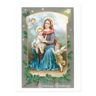 Salutations de Noël - bébé Jésus Carte Postale