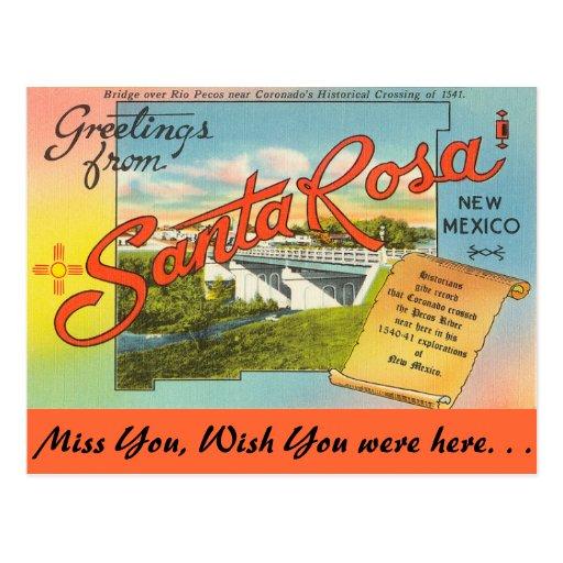 Salutations de Santa Rosa Carte Postale