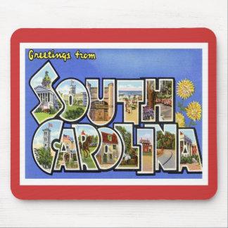 Salutations de Sc de la Caroline du Sud Tapis De Souris