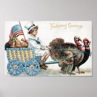 Salutations de thanksgiving poster