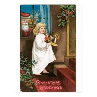 Salutations démodées de Noël Cartes Postales