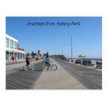 Salutations du parc d'Asbury, NJ Cartes Postales