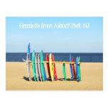 Salutations du parc NJ - planches de surf d'Asbury Carte Postale
